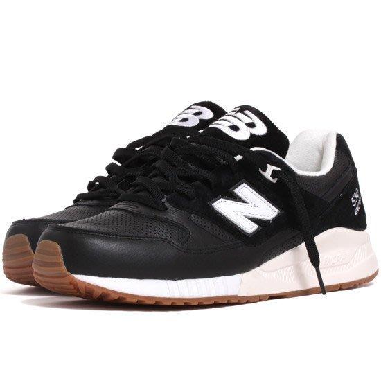 運動GO~ NEW BALANCE 慢跑鞋 膠底 皮革面 麂皮 穿搭 復古 休閒鞋 M530ATB 黑 男款