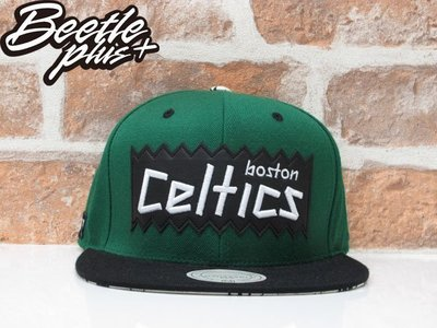 BEETLE PLUS  MITCHELL&NESS X BAIT X NBA CELTICS SNAPBACK 波士頓賽爾堤克 黑綠 聯名 後扣棒球帽