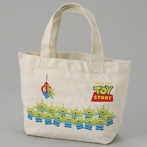 迪士尼三眼怪手提袋 帆布包 便當袋 隨身包包 玩具總動員 日本正版~彤小皮的遊go世界