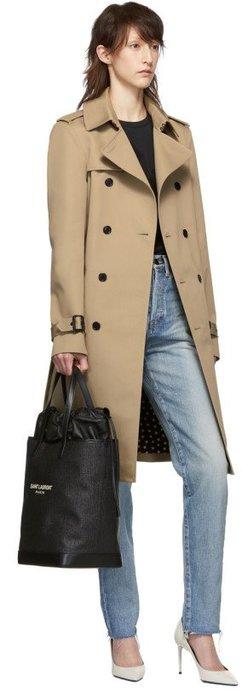 ~The Black Dan Moccani~ [五折] YSL 聖羅蘭 Raffia Teddy 編織感 束口購物袋