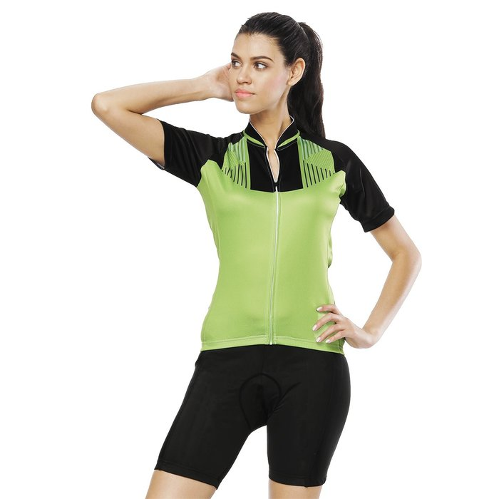 【Paladin】女款短袖車衣褲套裝 :: 綠裝