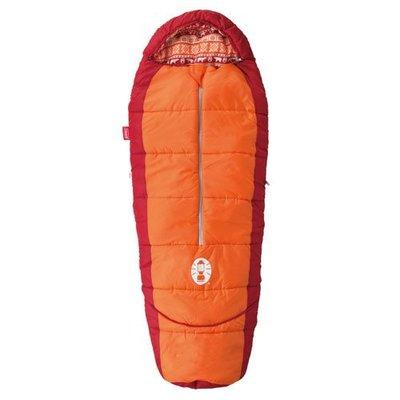 【大山野營】Coleman CM-27271 兒童可調式橘色睡袋/C4 化纖睡袋 纖維睡袋