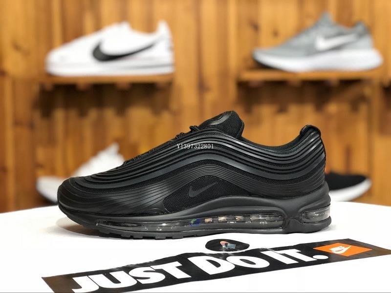 Nike Air Max 97 Ultra 全黑 百搭 氣墊 休閒運動慢跑鞋 AH7581-002 男鞋