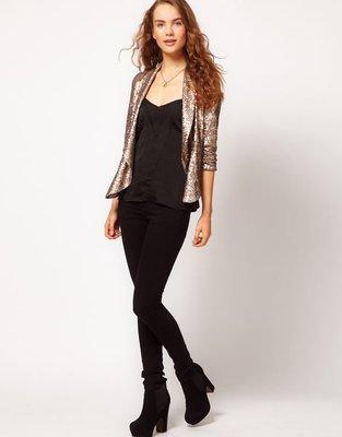 A Wear Sequin Drape Jacket -亮片 披風外套,全新