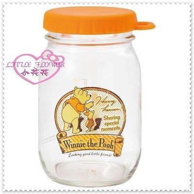 ♥小公主日本精品♥ Hello Kitty 小熊維尼 玻璃罐 糖果罐 復古罐11084402