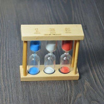 歡勝商貿3011 嚴選日本zakka1/3/5分鐘沙漏 櫸木玻璃計時器 手沖咖啡專用 愛樂壓專用計時器 非無印良品