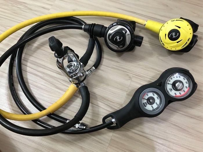 TUSA RS140 調節器組 TUSA 備二 TUSA 三用錶 8成新 潛水 調節器
