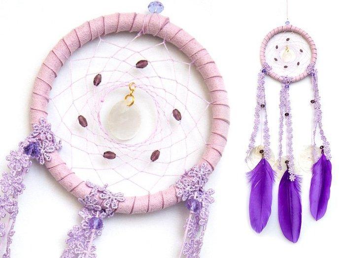 捕夢網 DIY材料包✿淺紫色✿ 『繼承者們款式』聖誕節禮物、情人節禮物、交換禮物、生日禮物、畢業禮物