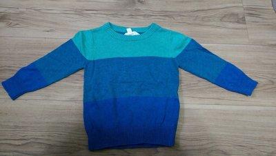 【二手極新】澳洲品牌pumpkin patch藍條紋長袖上衣毛衣next baby gap zara 男女童裝