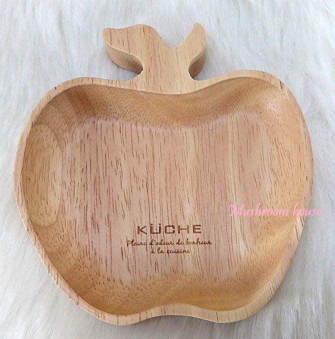 點點蘑菇屋 復古原木製蘋果造型置物盤 杯墊 田園鄉村風 現貨