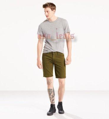【彈性29-44腰優惠】美國LEVIS 511 SLIM CUT-OFF SHORTS GREEN 軍綠窄管牛仔五分短褲