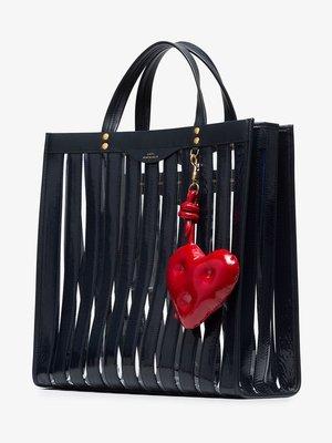 【折扣現貨】正品ANYA HINDMARCH Chubby heart charm紅色愛心牛皮革包包吊飾 鑰匙圈 附盒裝