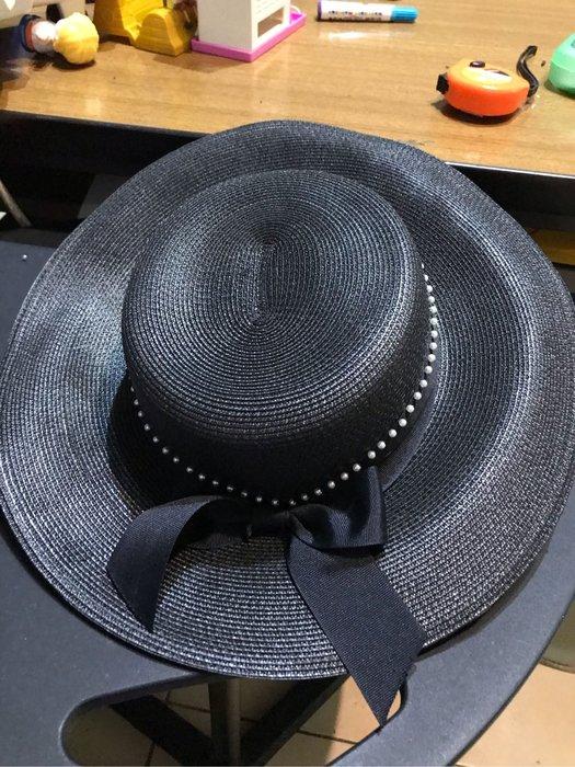 黑色造型帽 新品無吊牌 帽圍56.5cm
