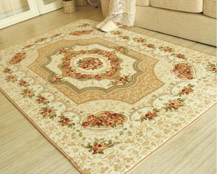 2017~地毯-加厚歐式田園現代簡約超柔法萊絨玫瑰客廳地毯QDSC-16904