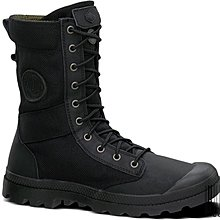 =CodE= PALLADIUM PAMPA TACTICAL 十孔帆布皮革高筒軍靴(黑) 02604-033 阿信 男