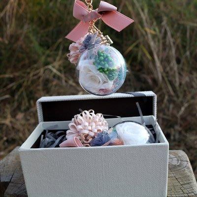 永生花真花玫瑰花車載香水掛件鑰匙扣擺件創意禮飾品禮盒裝交換禮物YSY
