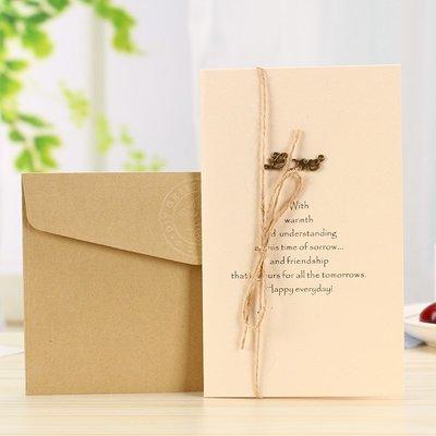 大號送禮禮物卡片復古節日折疊手工卡片文藝生日回禮祝福通用賀卡#禮品盒#包裝盒#創意#禮物盒