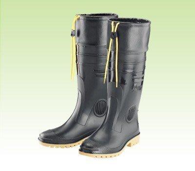 【登山雨鞋】長筒雨鞋 高級男用全長雙色雨鞋-護口型(加長皮套) 皇力牌【安安大賣場】