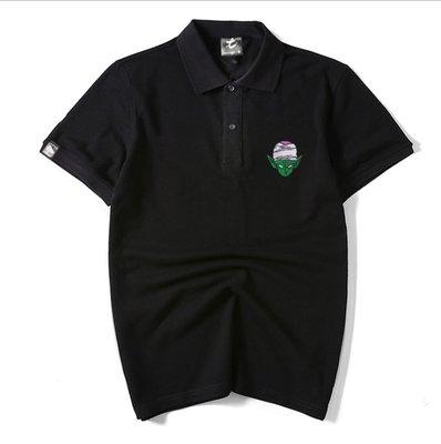 時尚服飾 刺繡ins翻領港風寬松半袖男士POLO衫潮牌大碼男生短袖T恤