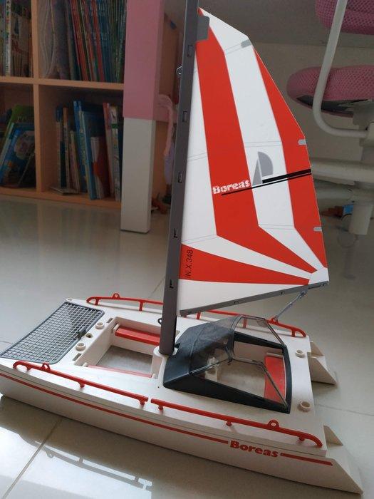 [中古] 德國 Playmobil 私人 富豪 快艇 船 遊艇 風力 店頭 展示 玩具 公仔 摩比人 bearbrick