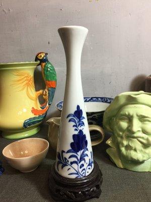 白明月藝術/古物雜貨店  手繪老瓷瓶