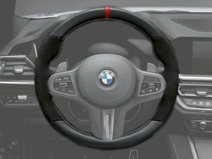 【樂駒】BMW 原廠 G01 X3 G02 X4 麂皮 Alcantara 方向盤 改裝 套件 精品 加裝 升級
