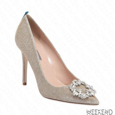【WEEKEND】 Sarah Jessica Parker SJP Amira 鑲鑽 高跟鞋 銀色