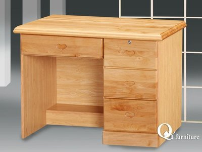 書桌 正赤陽實木3.5尺書桌下座/ 原木風/ 居家。【奇一家具 】新品上市(D007-335B)南部免運費 台南市