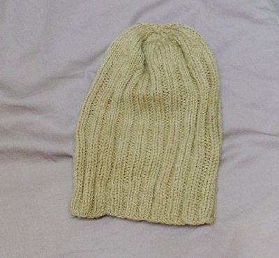 2本舖 ◎ 手工 毛線帽 毛帽 卡其色 9成新