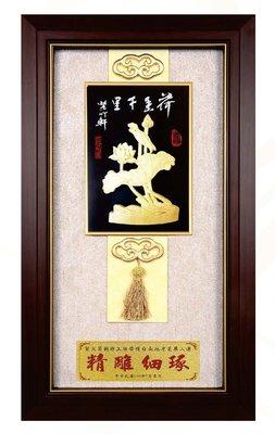 『府城畫廊-台灣工藝品』竹雕-荷香千里-34x60-(立體裱框,高質感掛匾)-請看關於我聯繫-H02-03