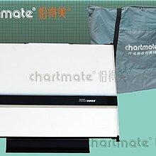 chartmate 恰得美 製圖桌:173PR-60P A2攜帶式製圖板 圖板左邊印有水平基準線