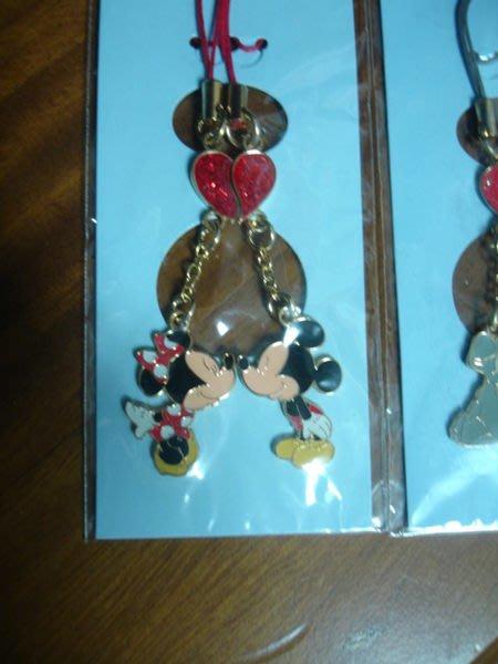 日本東京 迪士尼樂園帶回 園區限定情侶手機吊飾 (米奇&米妮款)