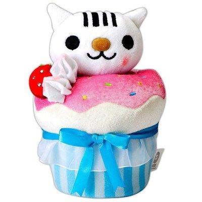 全新條碼貓蛋糕手機座娃娃