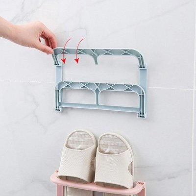 免釘可折疊鞋架 收納架(雙層)【JI2277】《Jami Honey》