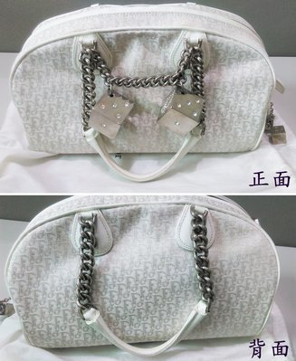 【二手,正品】【Christian Dior】白色 包包 手提包 骰子裝飾