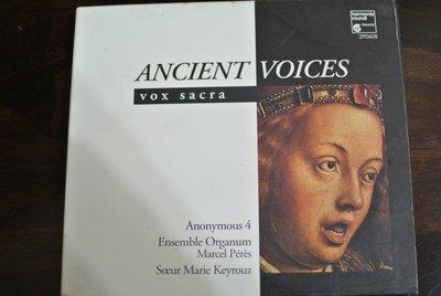 CD ~ ANCIENT VOICES VOX SACRA ~ 1995 HARMONIA MUNDI 290608
