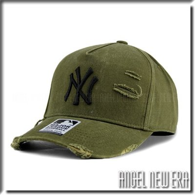 【ANGEL NEW ERA 】MLB Old Fashioned Cap NY  洋基 軍綠 墨綠 水洗 破壞 卡車帽