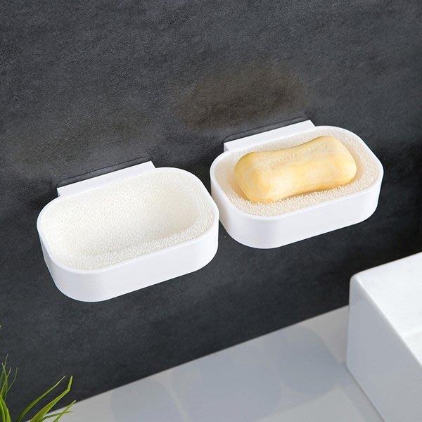 【TT】壁掛式肥皂盒免打孔香皂架創意海綿瀝水香皂盒衛生間肥皂架