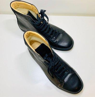 LOGAN TCG男穿純牛皮黑色高筒鞋(41號=8.5號)