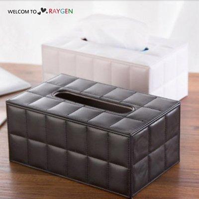 HH婦幼館 歐式經典居家PU皮質衛生紙盒 面紙盒 【3C041Z015】
