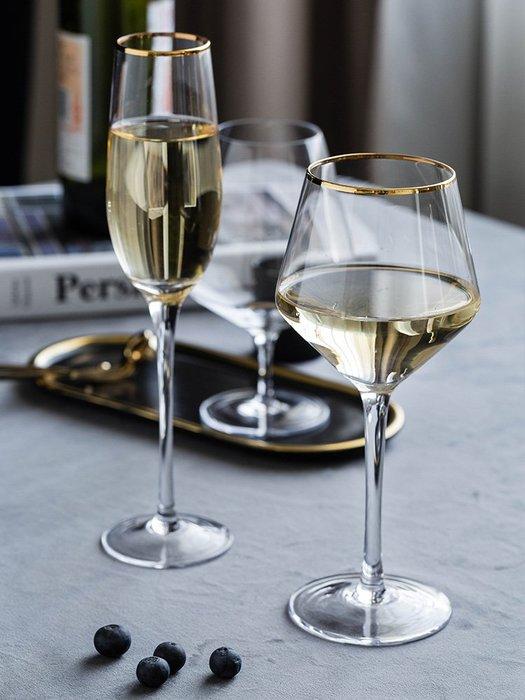 SX千貨鋪-玻璃酒杯創意大肚紅酒杯套裝家用水晶杯高腳杯香檳杯酒具#玻璃杯#酒杯#水杯#茶杯#杯子套裝