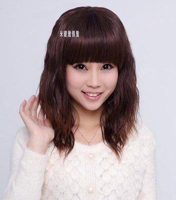 米緹雅假髮☆╯全頂式中長捲髮☆甜美小波...