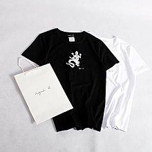 Melia 米莉亞代購 agnes.b 日本店面代購 東京大阪 蜥蜴款LOGO 兩色 日系男裝 時尚男款T恤 促銷