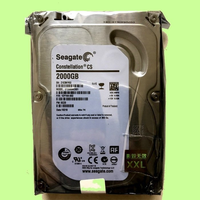 5Cgo【權宇】Seagate Constellation CS ST2000NC001雲端儲存3.5吋企業級硬碟 含稅