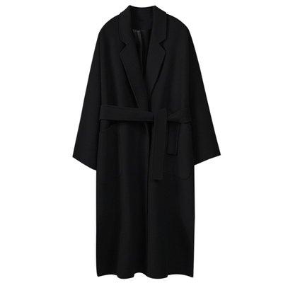 毛呢外套 長版大衣-秋冬寬鬆廓型純色女外套3色73wd27[獨家進口][米蘭精品]