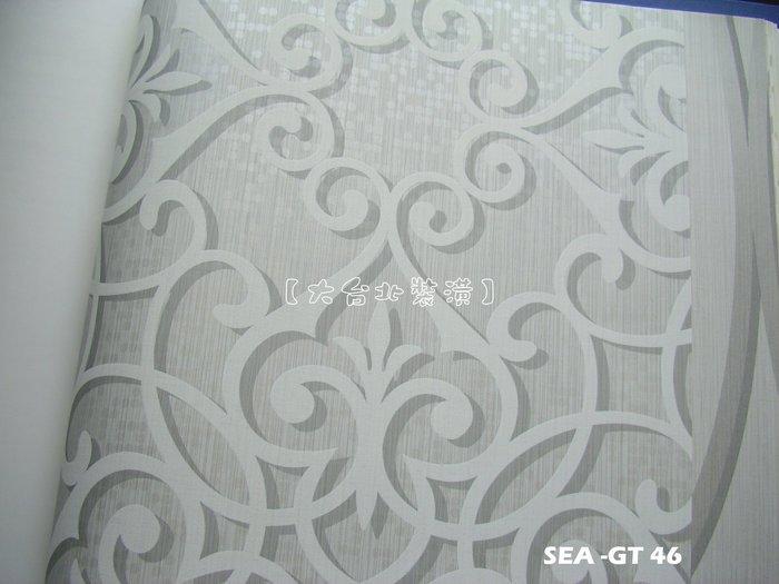 【大台北裝潢】美國Seabrook進口壁紙GT* Jasper Ironwork 折光小圓點底 鐵藝圖騰(3色)