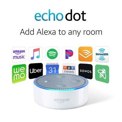 Amazon Echo Dot (2nd Gen) Smart Speaker with Alexa亞馬遜Echo Dot第二代語音控制智能喇叭音響,全新原裝!