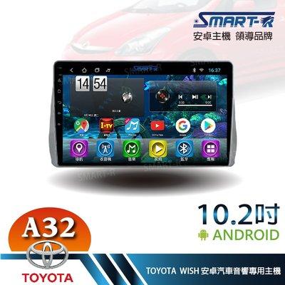【SMART-R】TOYOTA WISH  10.2吋安卓 2+32 Android 主車機 -入門四核心A32
