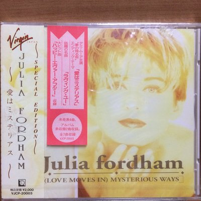 CD Julia Fordham (Love Moves In) Mysterious Ways (OBI) (Japan) 全新未拆 (100% Brand