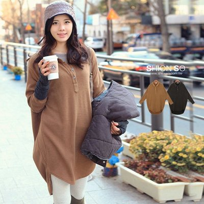 享瘦衣身中大尺碼‧時尚帥氣‧【B1244】長版POLO造型時尚毛織衫
